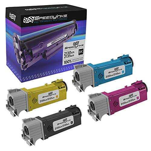 SPEEDYINKS Speedy Inks Compatible Toner Cartridge Replacement for Dell 2130cn High-Yield (1 Black, 1 Cyan, 1 Magenta, 1 Yellow, 4-Pack)