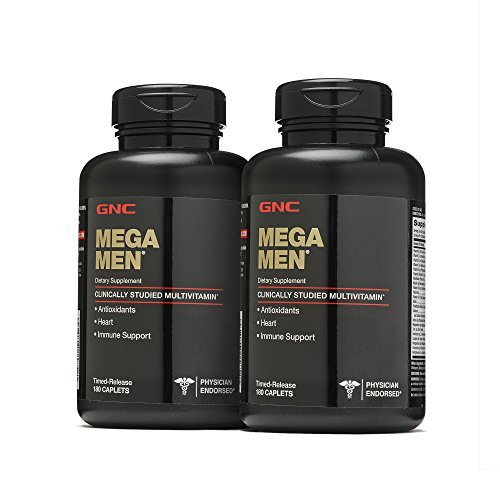 GNC Mega Men Multivitamin, Twin Pack, 180 Caplets per...