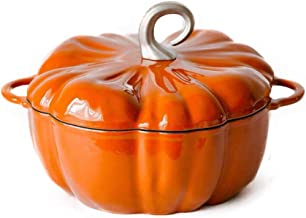 Ceramic Pot Pumpkin Shape Saucepan with Lid Non-Stick Coating Small Pot for Boiling Milk, Sauce,Pasta, Noodles (Color : Or...