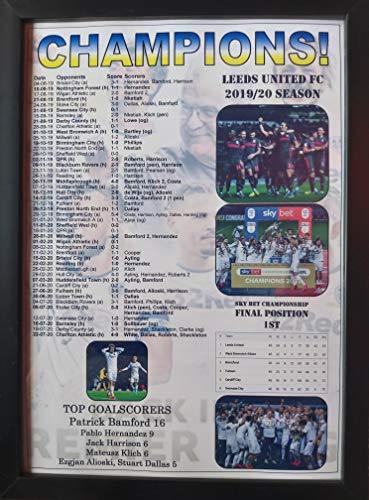 Leeds United 2020 Championship champions - framed print