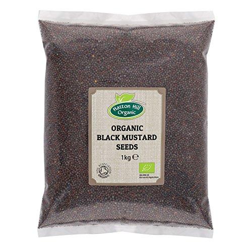 Semillas de mostaza orgánica negra / marrón 1kg por Hatton Hill Organic