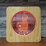 Juego sorpresa decoración antes de Navidad lámpara de mesa 3D LED luz de noche de plástico decoración de color para niños lámpara inteligente tridimensional colorida