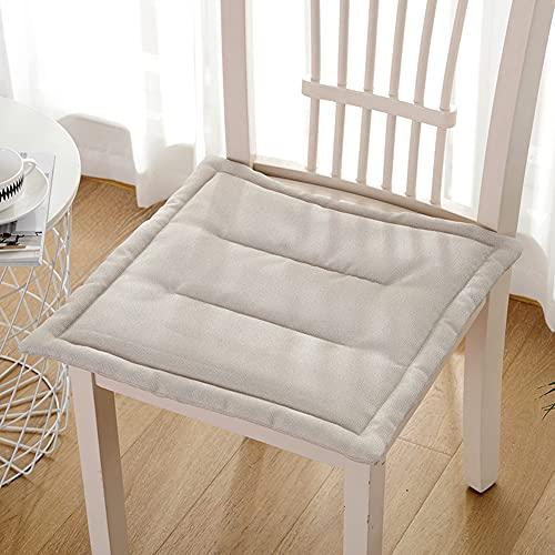 H·Aimee Cojines para Silla,Relleno de Algodón,Color Liso,Ideal para la Decoración de Cocina y Sala 40x40cm/45x45cm