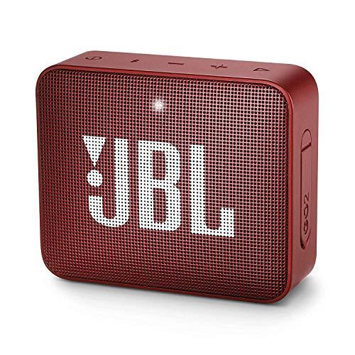 JBL GO 2 altavoz inalámbrico portátil con Bluetooth Parlante resistente al agua (IPX7) hasta 5h de reproducción con sonido de adecuada fidelidad Rojo