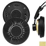 Geekria QuickFit Foam Almohadillas para auriculares AKG K121, K121S, repuesto para auriculares, almohadillas para orejas, fundas para auriculares, piezas de reparación (negro)