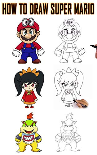 How To Draw Super Mario Step By Step Draw Characters Super Mario