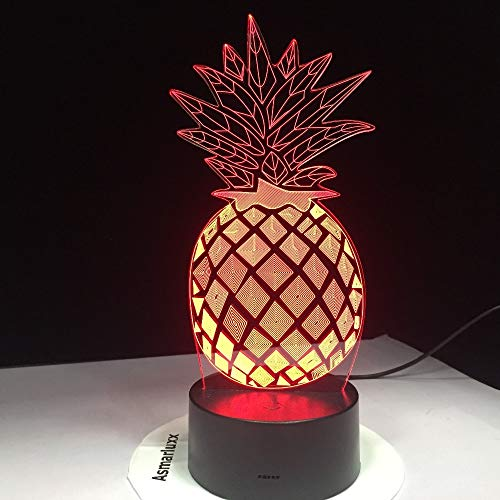 sanzangtang LED Nachtlicht 3D-Vision-Sieben Farben-Fernbedienung-Kiefer Nachtlicht 7 Farben Phantomlicht Für Schlafzimmer Tischlampe Hohe StandardqualitätNachtlicht