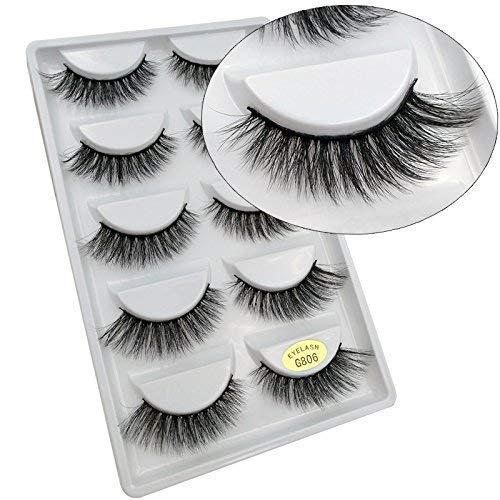 5 Paare Lange 3D Falsche Wimpern Natürliches Aussehen Schwarz Wimpern Erweiterung Makeup Style G806