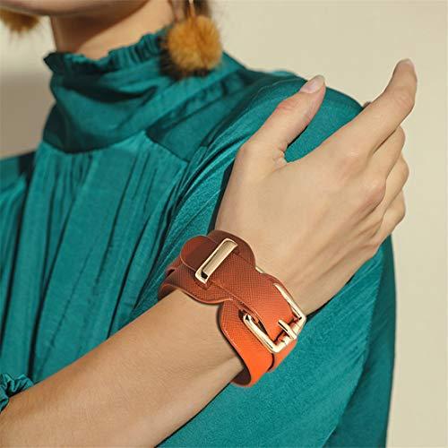 XUEE Punk Cool Mannen Womens Brede Echte Lederen riem Armband Manchet Polsband Bangle,B