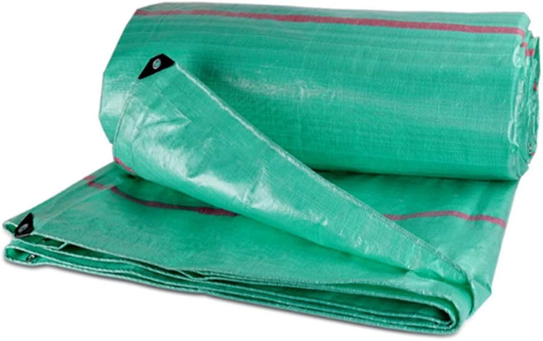 DALL 防水シートの厚さ0.46 Mm屋外防雨布防水日焼け止め多目的220 G/M 2引裂抵抗 (Color : 緑, Size : 10×12m)