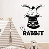 yaonuli Cartoon Rabbit Wall Sticker Wallpaper Children's Room Bedroom Vinyl Removable Decorative sticker33X40cm