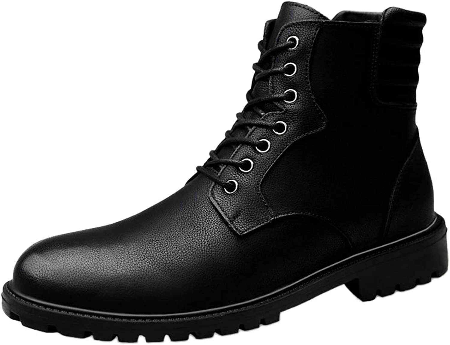 Snfgoij Work Boots Mens Lightweight Waterproof Trainers shoes Autumn and Winter Martin Boots Leather Retro High