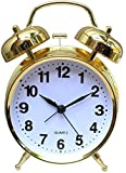 Lime Sky Twin Bell Alarm Clock for Heavy Sleepers with Night Led Display