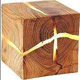 【Exquisites Design aus natürlichem Kiefern- / Berg Aprikose】rissige Holzwandlampe, Nordischer Stil LED-Wandbeleuchtung, Verwendet in Schlafzimmer, Wohnzimmer, Flur, einzigartige Wandbeleuchtung