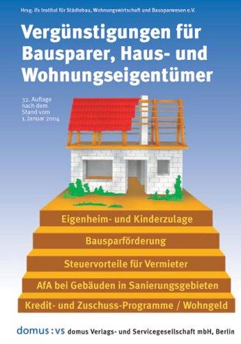 Vergünstigungen für Bausparer, Haus- und Wohnungseigentümer