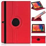 ratesell Struktur 360° Flip Hülle Tasche für Samsung Galaxy Note 12.2Pro P900/P905mit Standfunktion, rot