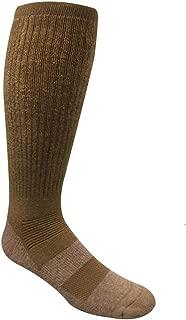 Desert Climate Military Boot Socks, Brown, Large