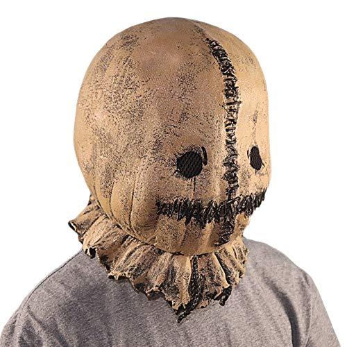HX Halloween Dekorationen Clearance Halloween Scarecrow Latex Maske Kopfbedeckung Maske Horror Halloween Props (Color : Brass)