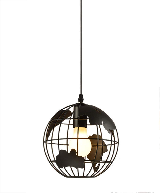 TAOMZ Earth Globe Map Pendelleuchte  Vintage Eisen Schmiede Kugel Kronleuchter Runde Hngende Leuchte Lampe Für Schlafzimmer Büro  Rostschutz  Robust Und Langlebig (Farbe   A-30  10  120cm)