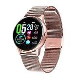 Adminitto88 Reloj Inteligente Mujer,Smartwatch con Pulsómetro Pulsera Actividad Multifuncion Color Monitor Reloj Deportivo Monitor De Sueño Pantalla Táctil 1.22 Pulgadas Impermeable IP68 para Android