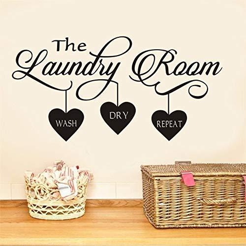 Adesivo Da Parete The English Laundry Love, Adesivo Per Bucato Per La Decorazione Della Casa, Adesivo Rimovibile In Pvc, 57 * 28 Cm