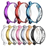 [10-Pack] Screen Protector Case Compatible with Samsung Galaxy Watch Active 2 44mm Cover, All-Around Protective Cover Soft TPU Bumper Frame Accessories (10 Colors, Active 2 44mm)
