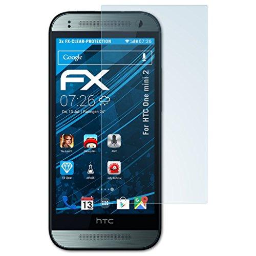 atFolix Schutzfolie kompatibel mit HTC One Mini 2 Folie, ultraklare FX Bildschirmschutzfolie (3X)