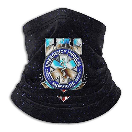 PQU Awesome Scarf Headband,EMS Star of Life EMT Rettungssanitäter EMS Rettungssanitäter Halsdekoration, Dekorative Windabweisende Gesichtswärmer Für Gym Mountain Running,26x30cm