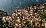 nonbranded DIY 1000 Piezas de Regalo de Rompecabezas Francia Ciudad Europa Edificios de montaña