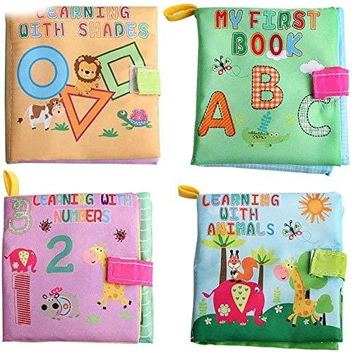 hsj Quiet Buch beschäftigt Buch Baby Newborn weichen Tuch Buch Lernen Bildung Lernen Gefühl Buch Children Exquisite Verarbeitung (Color : F)