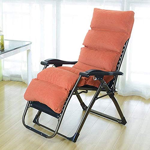 Chaise Balancelle Loisirs avec Coussins de Jardin Fauteuil inclinable Fauteuil inclinable Patio Pliante d'extérieur réglable Lounges Plage de Camping Portable avec c