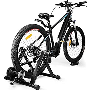 INTEY Rodillo Bicicleta Plegable, Rodillo Magnético de Ciclismo con 6 Niveles de Resistencia, Adecuado para 24 a 28 Pulgadas, Bicicletas 700c o Bicicletas de Montaña(No Incluye Bicicleta)