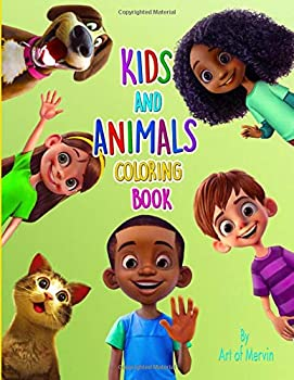 Paperback Kids and Animals Coloring Book