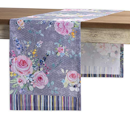 Maison d' Hermine Sweet Rose Lavender 100% Cotton Table Runner for Party | Dinner | Holidays | Kitchen | Spring/Summer [Single Layer (14.5 Inch by 72 Inch)]