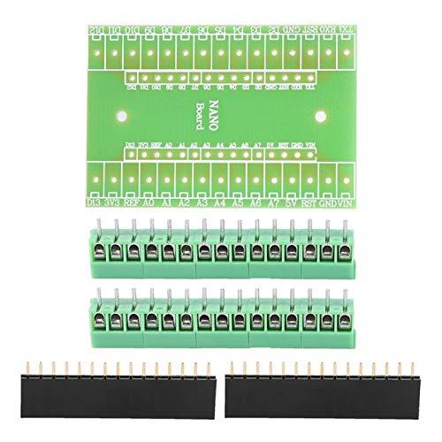 SALUTUYA Placa de expansión Terminal Adaptador de expansión Adaptador de Terminal de Tornillo Kit de Bricolaje Componentes electrónicos para Nano IO Shield