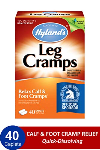 Leg Cramp Caplets by Hyland's, Natural Calf, Leg and Foot Cramp Relief, 1 Pharmacist Recommended Leg Cramp Relief, 40 Count (Best Treatment For Charley Horse)