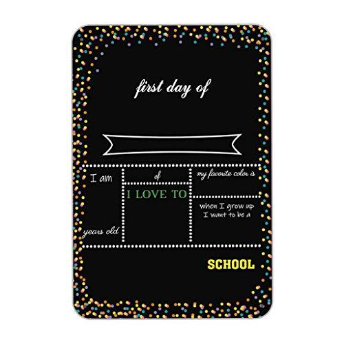 Metallplakat, farbiges Punkt-Thema Tafel-Art Zurück zur Schule Foto Prop Zinnschild 8x12 Zoll Wohnkultur