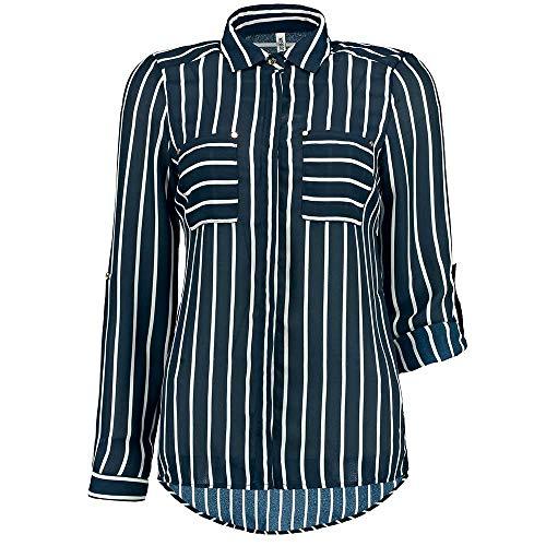 Colloseum Damen Bluse Langarm blau XL