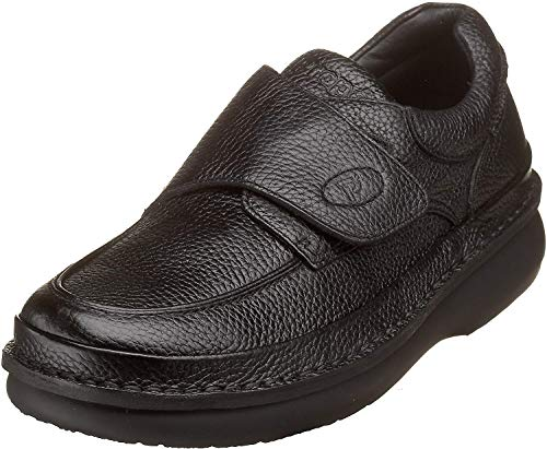 Propet Men's M5015 Scandia Strap Slip-On,Black Grain,11 M (US Men's 11 D)