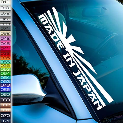 Made in Japan Frontscheiben-Aufkleber Sonne Tokio Mazda Mx Japan Spoiler Drift Dapper chillest Schleifen Low Auto-Sticker Reifen