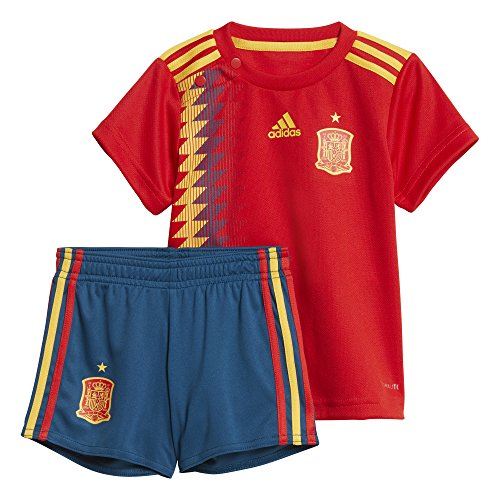 adidas Federación Española de Fútbol Conjunto, Unisex bebé, Rojo (dorfue), 80-9/12 Meses