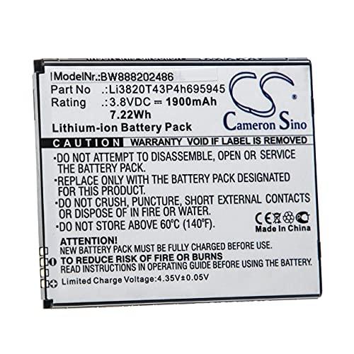 vhbw batteria compatibile con ZTE Blade Vantage 2 smartphone cellulare (1900mAh, 3,8V, Li-Ion)