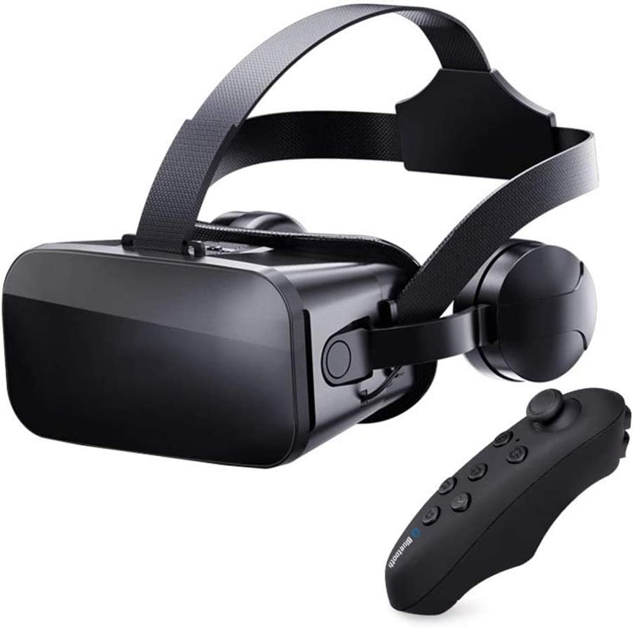 VR Headset Compatible with iPhone & Android Phone - Universal Virtual Reality Goggles - Play Your Best Mobile Games 360 Movies,Comfortable Adjustable VR Glasses Gift for Kids and Adults