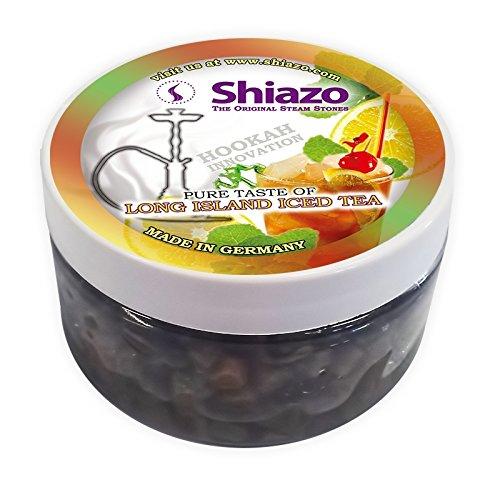 Shiazo 100gr, Dampfsteine Steam Stones für Shisha und Shisha mit 40Aromen und Düfte wählbar Iced Tea Long Island