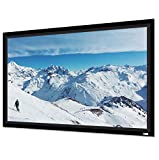 Vutec Vu-Easy Wall Mount Projector Screen 200In Diag 2.35:1| 2 1/2In Black Velvet Frame Anti-Crease Movie Home Theater Cinema High Performance | USA Made | Easy Install (Greydove Soundscreen)