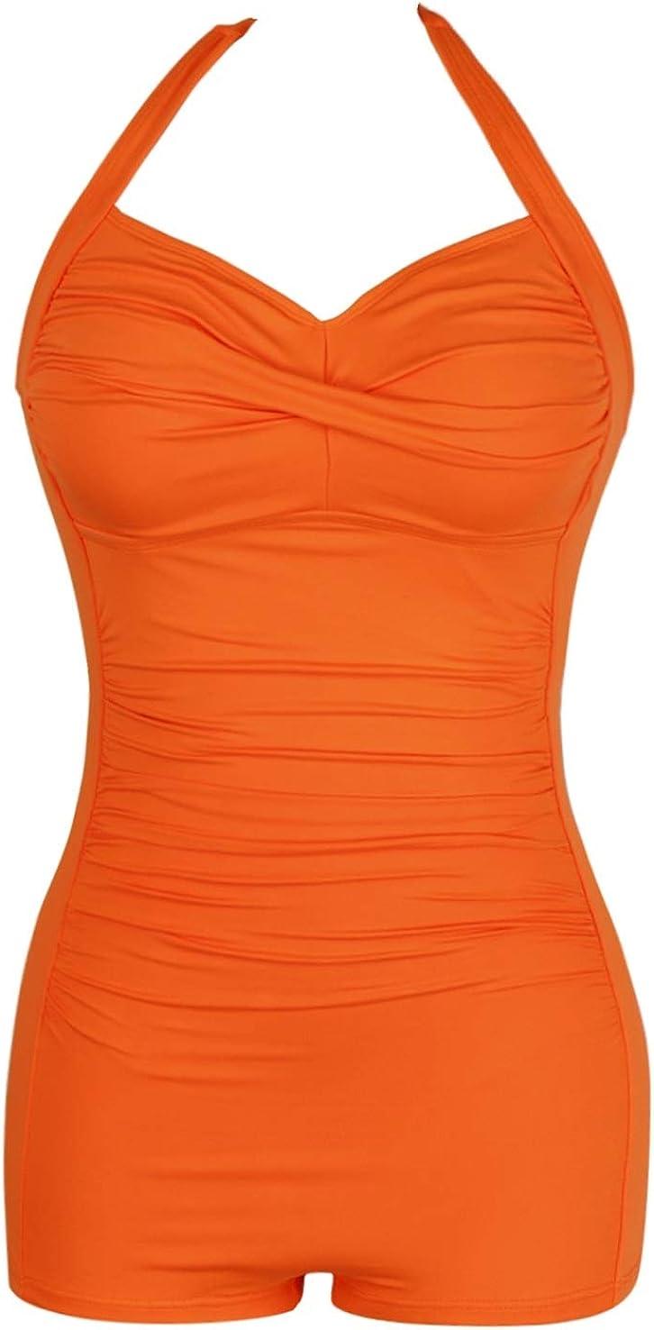 Sovoyontee Women's One Piece Tummy Some reservation Boyleg High quality Swimwear Ruche Control