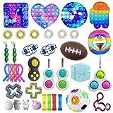 37 Piezas Fidget Toy Packs, Set De Juguetes Sensoriales Fidget Baratos con Simple Dimple Pop Bubble Infinite Cube Stress Ball y Anti Stress Relief Toy Stress Ball