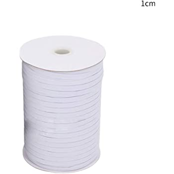 Black White Stretch Flat Elastic Waist Band for Woven Sewing Trouser Dressmaking