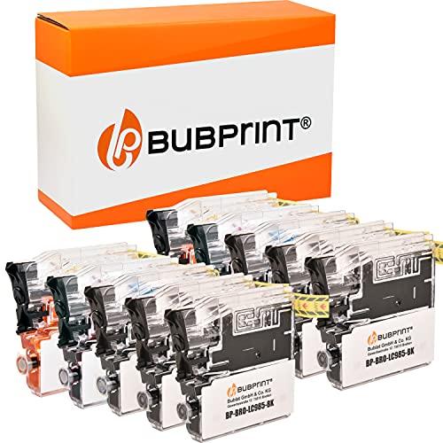 Bubprint Kompatibel Druckerpatronen als Ersatz für Brother LC-985 für DCP-J125 DCP-J140W DCP-J315W DCP-J515W MFC-J220 MFC-J265W MFC-J410 MFC-J415W Multipack 10er-Pack