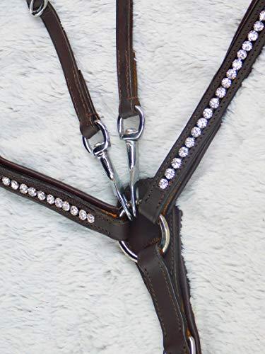 Vorderzeug Hier: Braun Martingal Hilfszügel Deister Glitzer Strass Leder Pony VB WB X Full Tysons (VB)